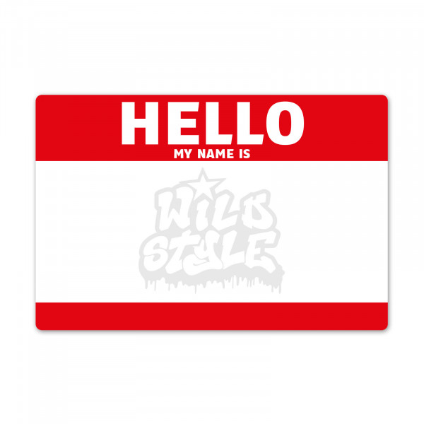 "Sticker Set ""HELLO MY NAME IS..."" Aufkleber Graffiti Street Style"