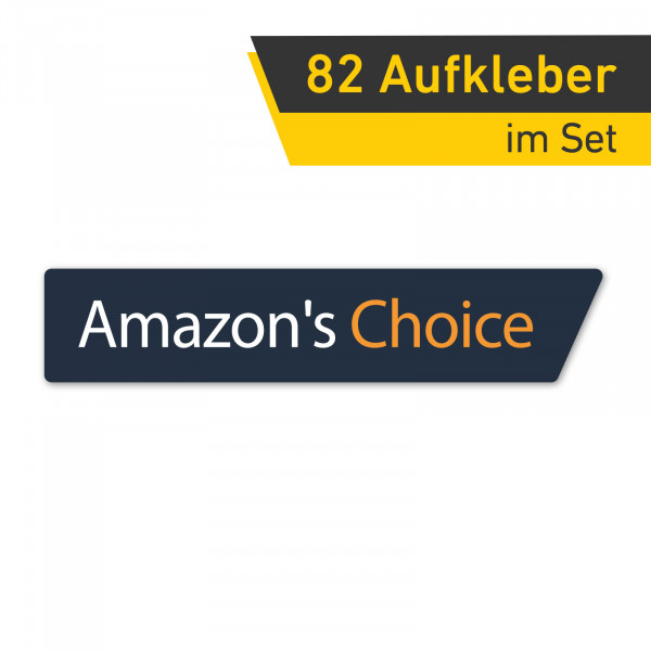 Amazon´s Choice Aufkleber Sticker Set Bestseller